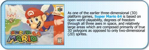 More information about Super Mario 64, the first real 3D Mario game