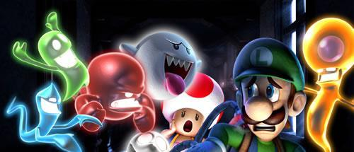 A gang of ghouls terrorising Luigi and Toad