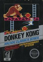 The classic NES version of Donkey Kong box cover