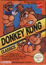 Donkey Kong Classics on the NES box cover