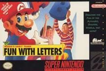 Mario Teaches the alphabet in Marios Early Years: Fun with letters on the SNES