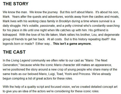 The Story and casting information for Living Legend